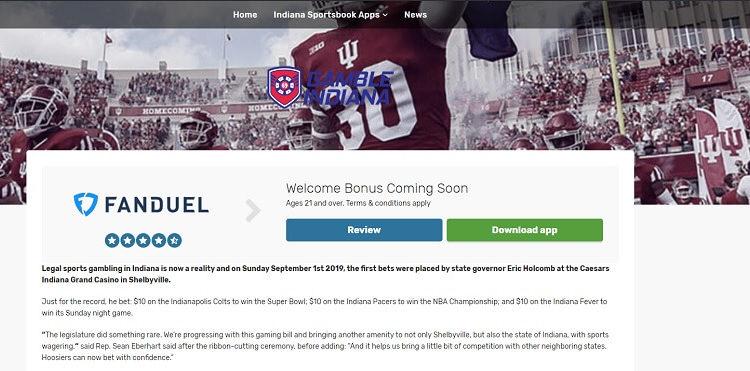 Gamble Indiana website