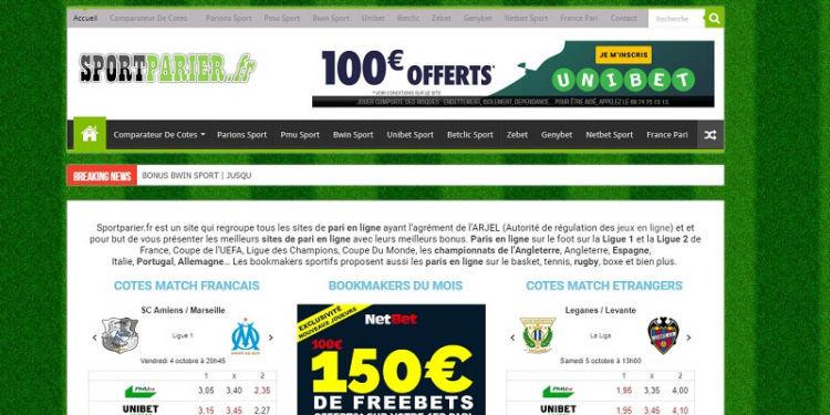 Sport Parier website