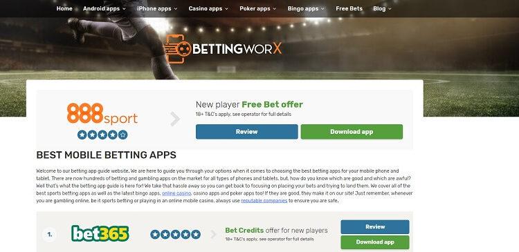BettingWorx site
